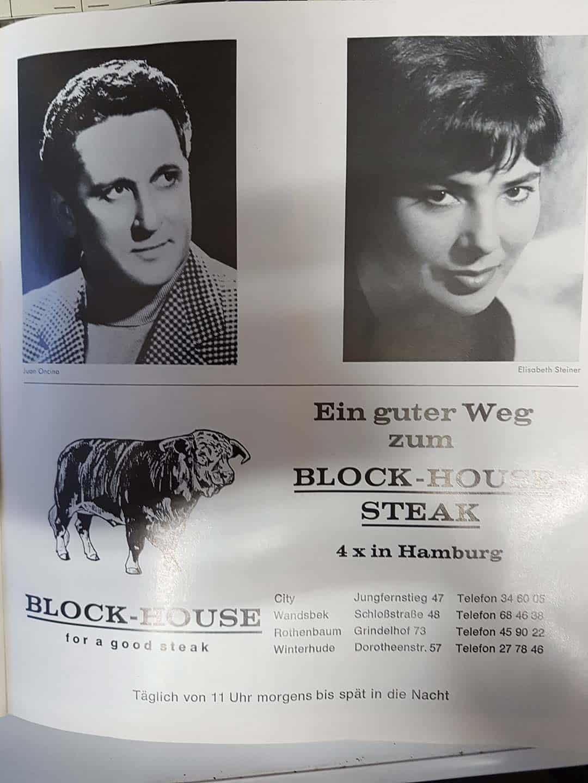 Zeitung Artikel über Block-House-Steak
