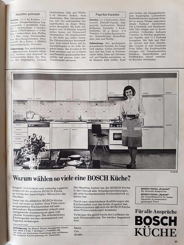 Zeitung Artikel über Bosch Küche