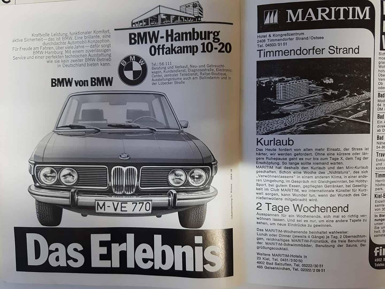 Zeitung Artikel über BMW-Hamburg