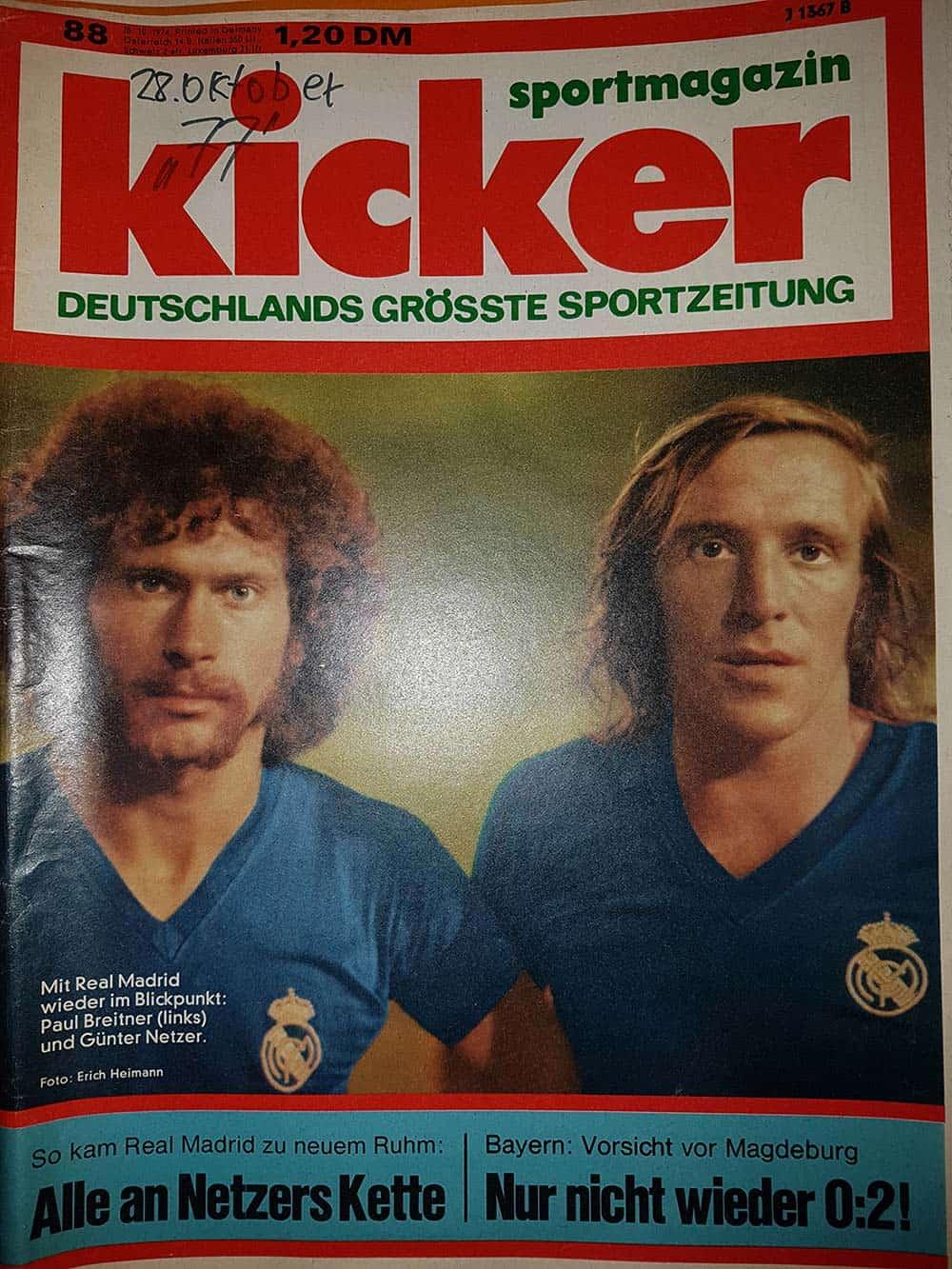 Sportmagazin Kicker Zeitung